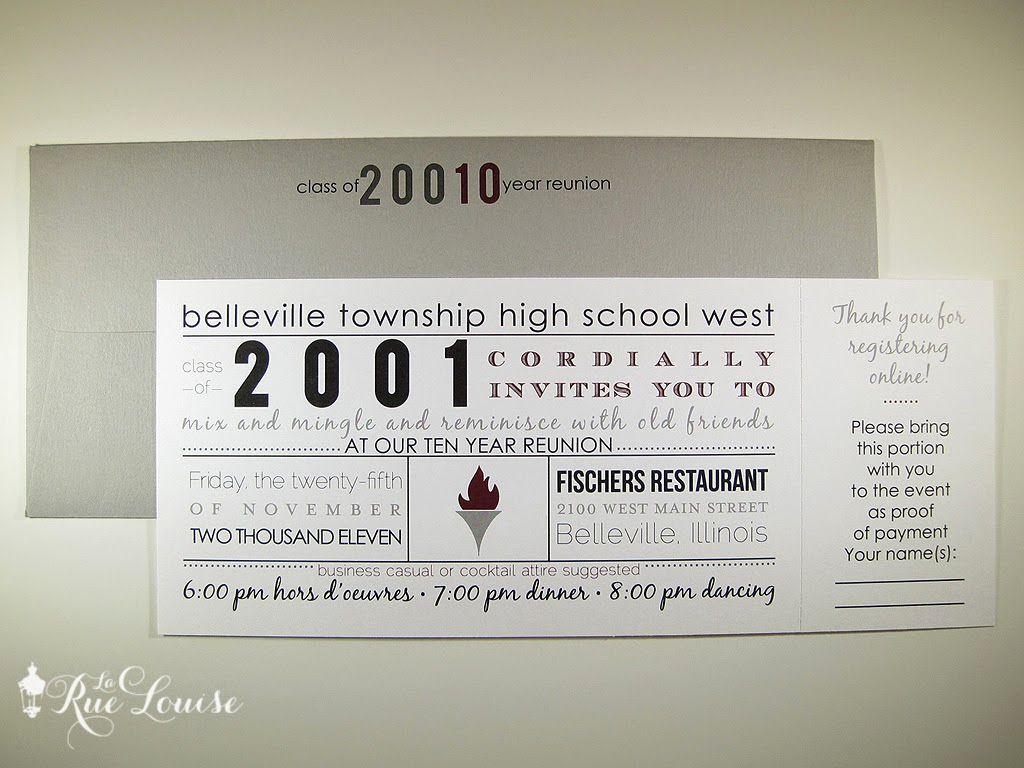 10 Year Reunion Invitation Best Of La Rue Louise Typographic Style 10 Year High School