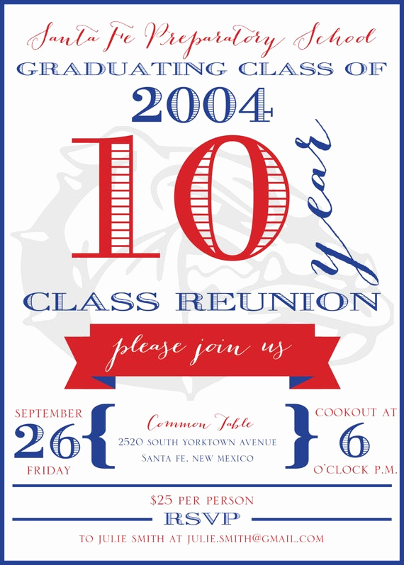 10 Year Reunion Invitation Fresh 10 Year High School Reunion Invitation