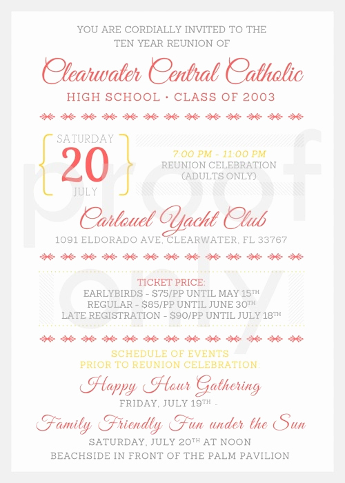 10 Year Reunion Invitation Fresh 64 Best Images About High School Reunion Invites On Pinterest