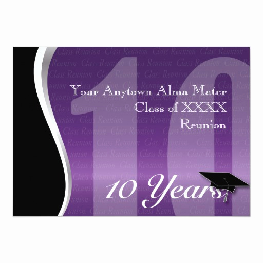 10 Year Reunion Invitation Fresh Customizable 10 Year Class Reunion Custom Invitations