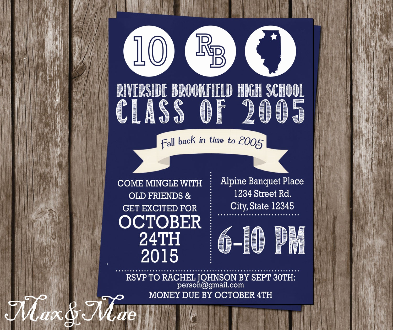 10 Year Reunion Invitation Fresh High School Reunion Invitation College Reunion Class Of