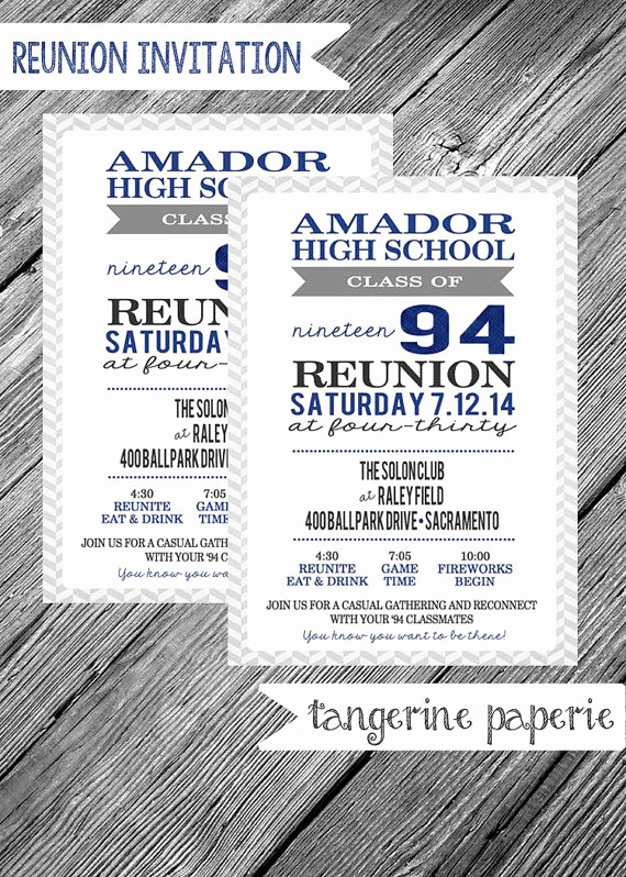 10 Year Reunion Invitation Fresh High School Reunion Printable Invitation Herringbone