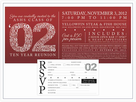 10 Year Reunion Invitation Fresh Pinterest • the World's Catalog Of Ideas