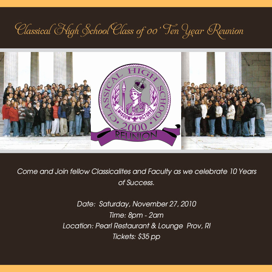 10 Year Reunion Invitation Inspirational Class Of 2000 Ten Year Reunion Line Invitations & Cards