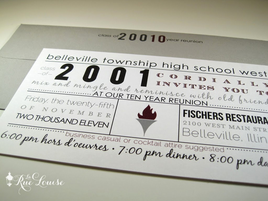 10 Year Reunion Invitation Lovely Typographic Style 10 Year High School Reunion Invitations