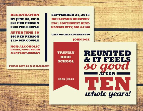 10 Year Reunion Invitation Unique High School Reunion Invitation Package L Patriot by