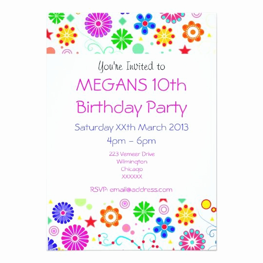 10th Birthday Invitation Wording Beautiful 61 Best 10th Birthday Party Invitations Images On