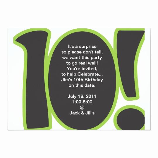 10th Birthday Invitation Wording Fresh 10th Birthday Invite
