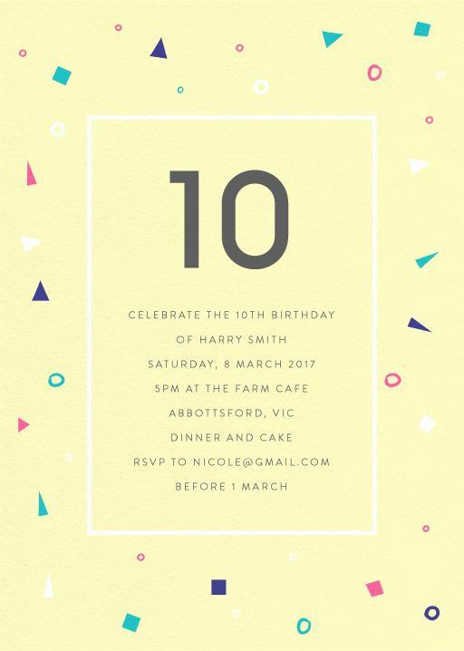 10th Birthday Invitation Wording Luxury 10th Birthday Invitations Designs by Creatives