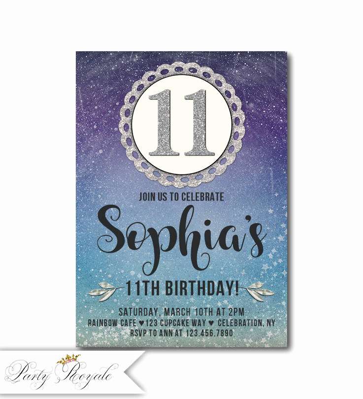 11th Birthday Invitation Wording Fresh Birthday Invitation Tweens 11th Birthday Invitation Girl