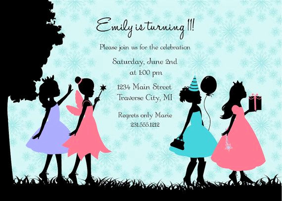 11th Birthday Invitation Wording Fresh Girls Tween Invitation Silhouette Pre Teen Birthday