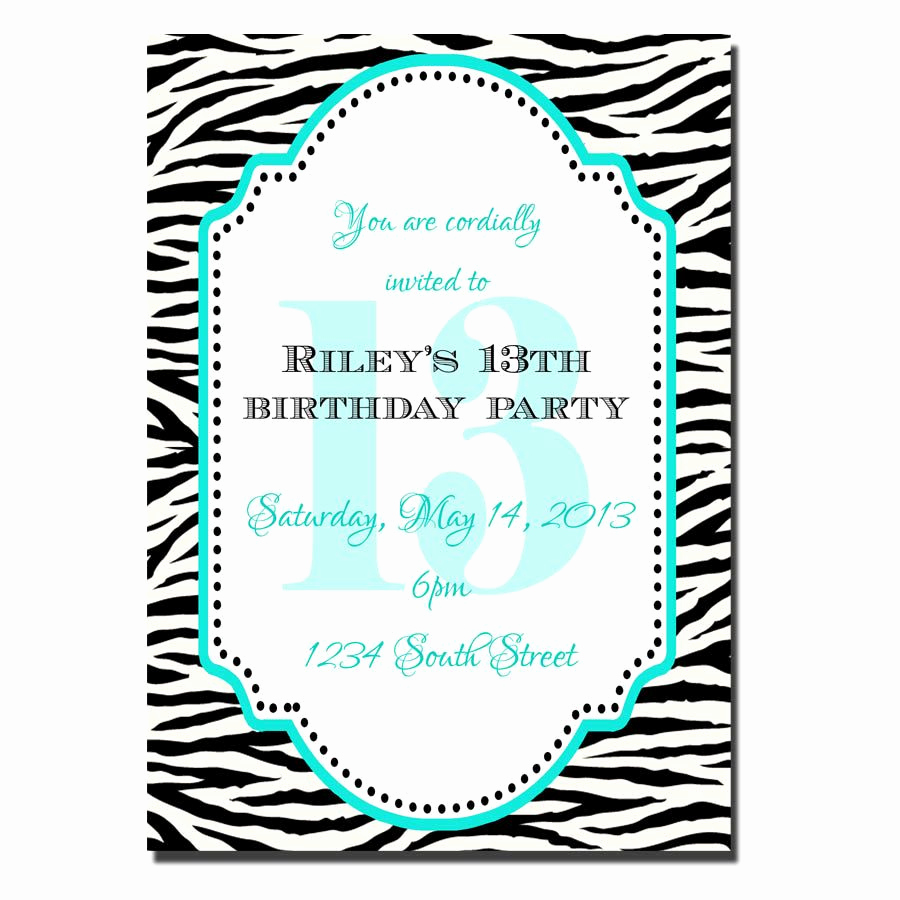 13th Birthday Invitation Ideas Awesome 13 Year Old Birthday Party Invitations