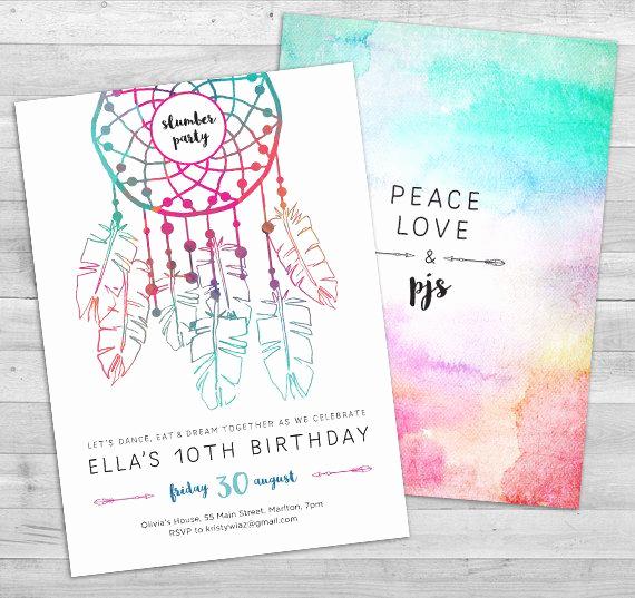 13th Birthday Invitation Ideas Awesome Slumber Party Invitation Sleepover Invitation Pajama Party