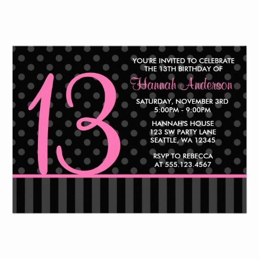 13th Birthday Invitation Ideas Best Of 13th Birthday Party Invitations and Ideas Pink and Black