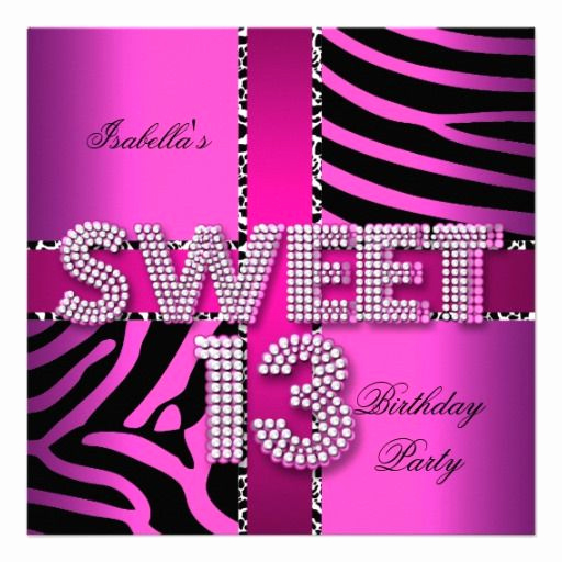 13th Birthday Invitation Ideas Elegant 29 Best Images About 13th Birthday Party Invitations On