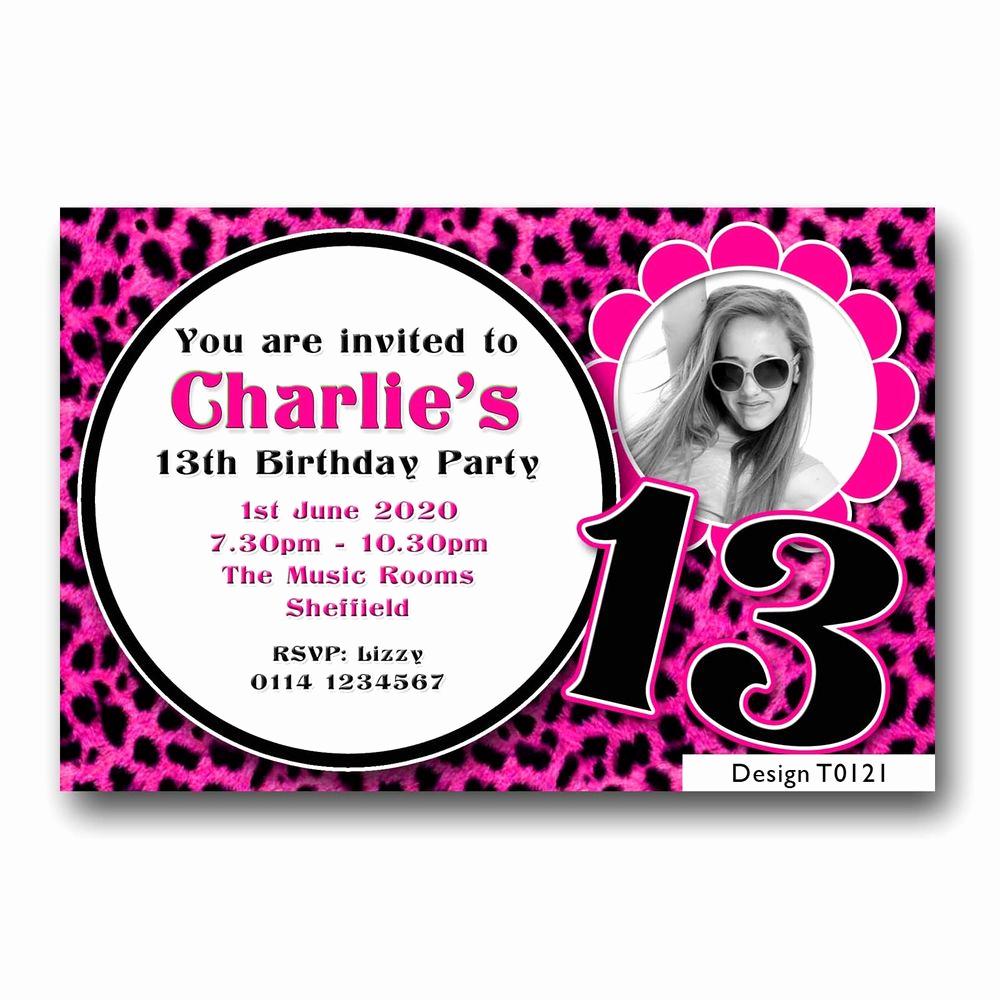 13th Birthday Invitation Ideas Fresh 13th Birthday Invitation