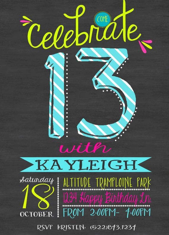 13th Birthday Invitation Ideas Inspirational 13th Birthday Party Invitations Google Search