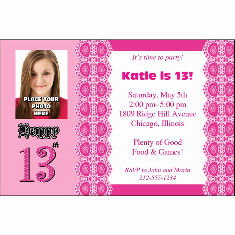 13th Birthday Invitation Ideas Luxury 13th Birthday Invitations Ideas