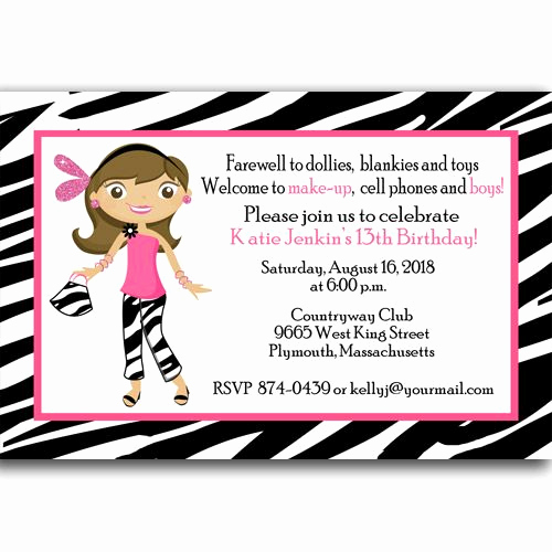 13th Birthday Invitation Ideas New Free 13th Birthday Invitations Ideas Templates