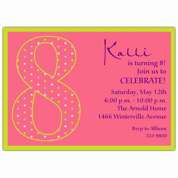 13th Birthday Invitation Wording Lovely 13th Birthday Girl Dots Invitations