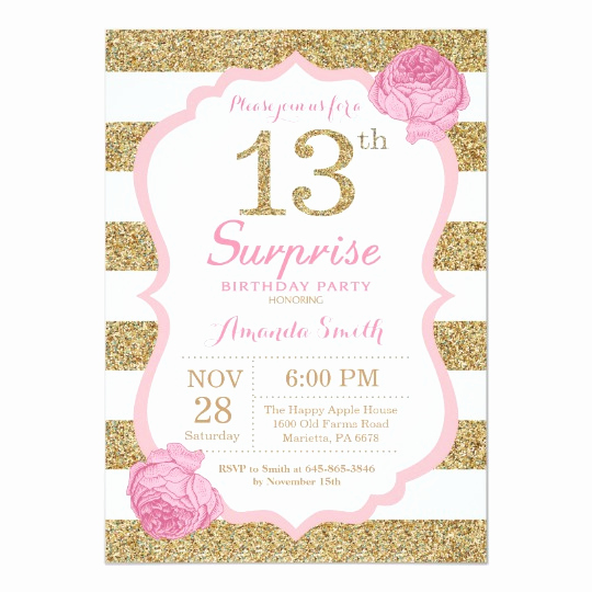 13th Birthday Invitation Wording Luxury 13th Birthday Invitations