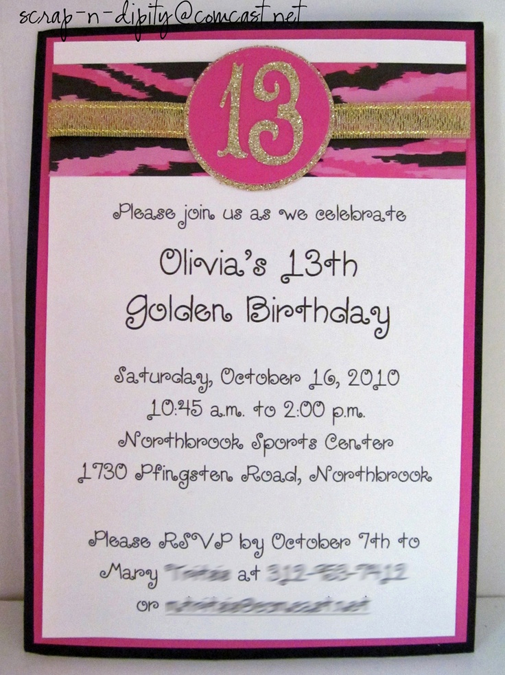 13th Birthday Party Invitation Wording New 13th Birthday Party Invitation Wording