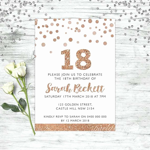 18th Birthday Invitation Ideas Elegant Best 25 18th Birthday Invites Ideas On Pinterest