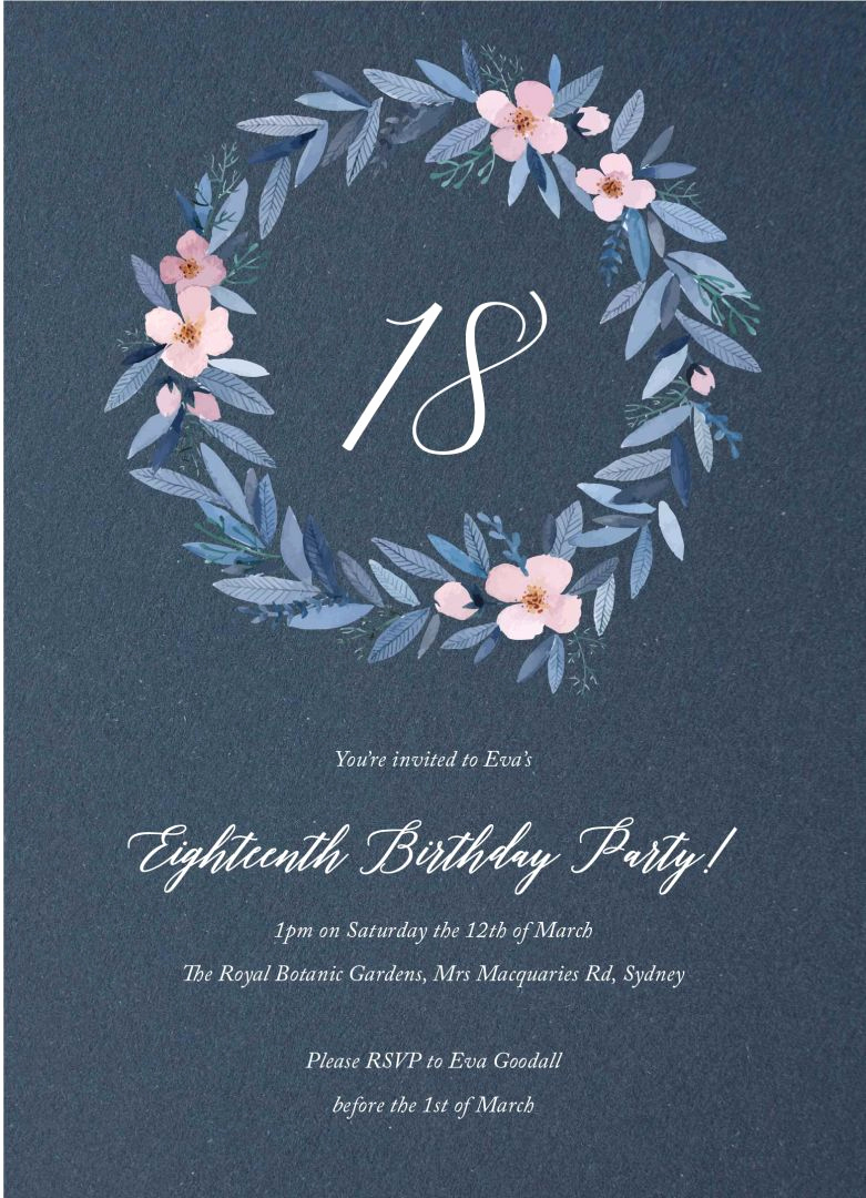 18th Birthday Invitation Ideas Elegant Planning An 18th Party or attending One Your 18th