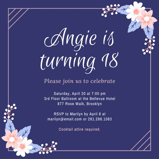 18th Birthday Invitation Ideas Fresh Customize 1 023 18th Birthday Invitation Templates Online