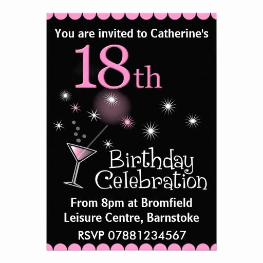 18th Birthday Invitation Ideas Inspirational 18th Birthday Party Invitation Zazzle