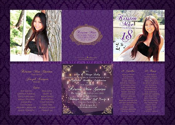 18th Birthday Invitation Ideas Inspirational 5x5 Trifold Debut 18th Birthday Invitations by