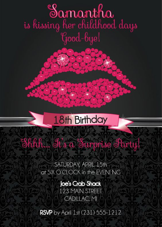 18th Birthday Invitation Ideas Luxury 18th Birthday Invitation 18th Birthday Party Invitation