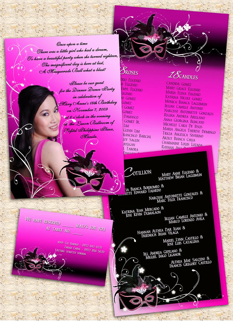18th Birthday Invitation Ideas Luxury 18th Birthday Invitation Card Masquerade theme