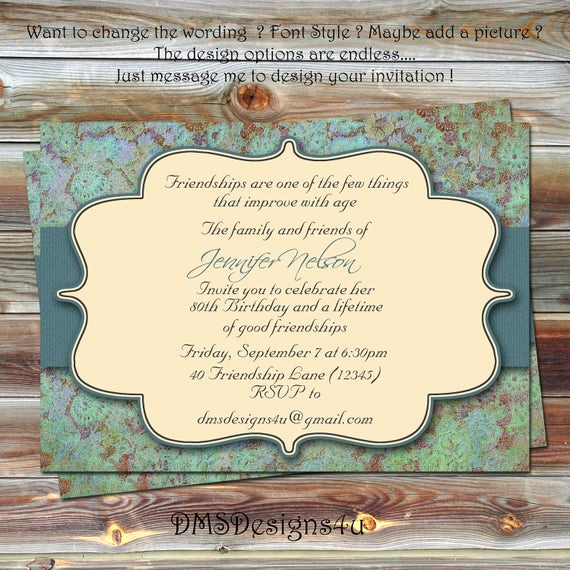 18th Birthday Invitation Wording Awesome Adult Milestone Birthday Invitation 18th 21st 30th by