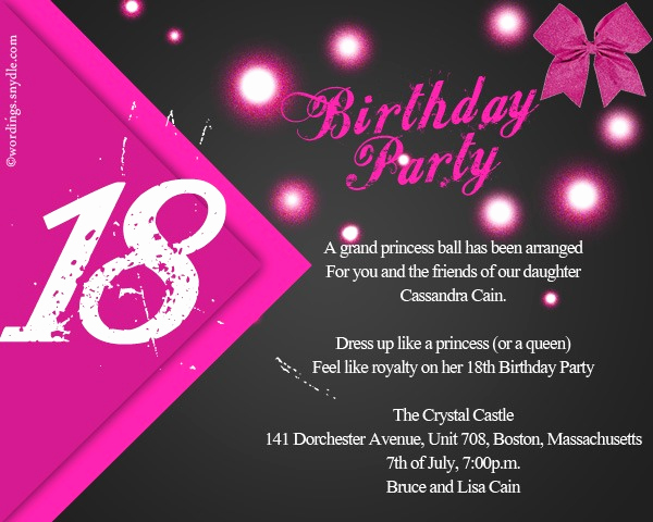 18th Birthday Invitation Wording Elegant 18th Birthday Invitations for Boys
