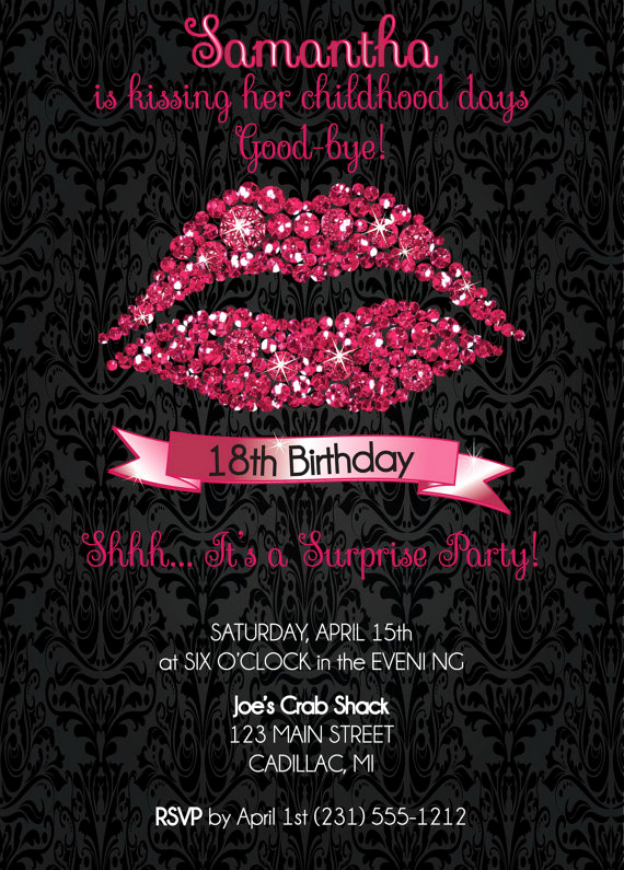 18th Birthday Invitation Wording Fresh 18th Birthday Invitation 18th Birthday Party Invitation Hot