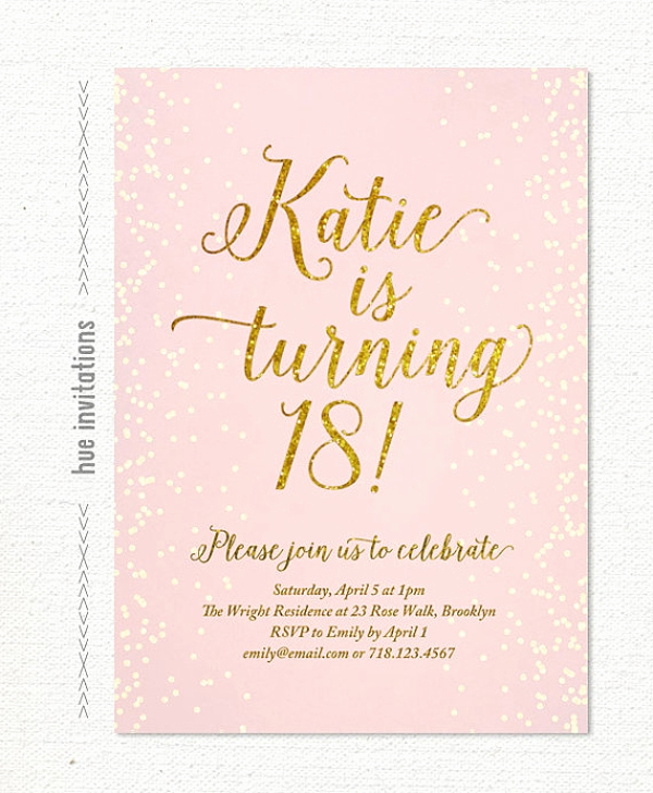 18th Birthday Invitation Wording Inspirational 14 18th Birthday Invitation Designs & Templates Psd Ai