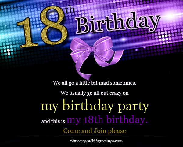 18th Birthday Invitation Wording Inspirational 18th Birthday Invitations 365greetings