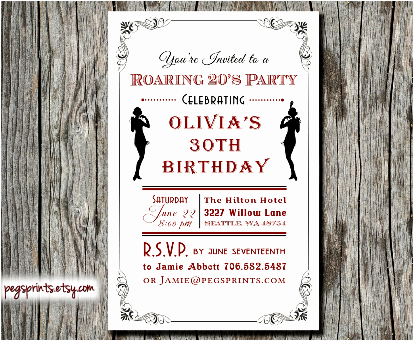 1920s Invitation Template Free Awesome 6 Roaring Twenties Invitation Template Lyeuw