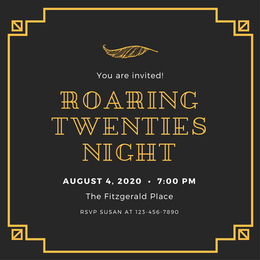 1920s Invitation Template Free Beautiful Golden Starry Night Prom Invitation Templates by Canva