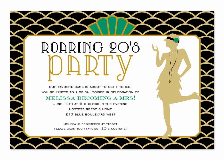 1920s Invitation Template Free Elegant Roaring Twenties Birthday Invitations by Invitation