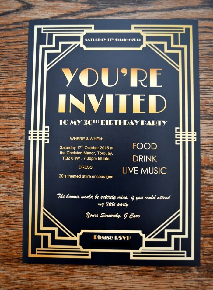 1920s Invitation Template Free Inspirational Gatsby Party Invites Gypsy soul