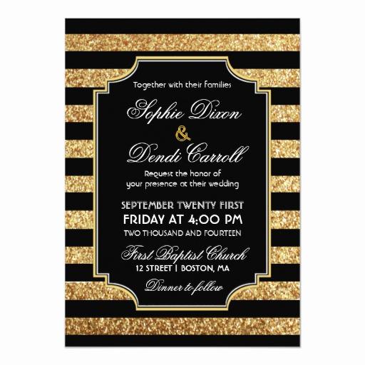 1920s Invitation Template Free Inspirational Gold Glitter Art Deco 1920s Wedding Invitation