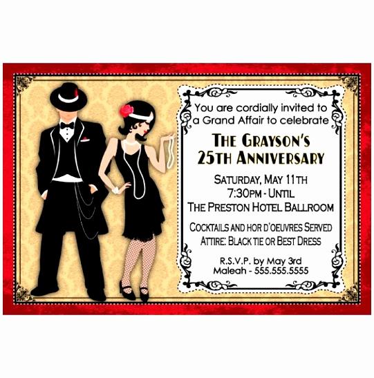 1920s Invitation Template Free New 6 Roaring Twenties Invitation Template Lyeuw