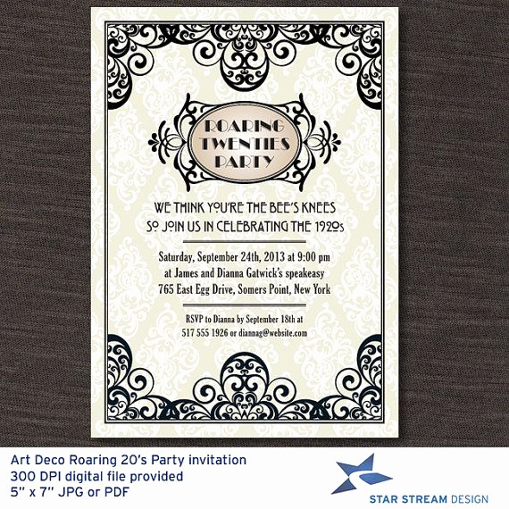 1920s Invitation Template Free New 8 Curated Art Deco Design Ideas by Marcmaneditor