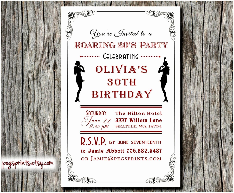 1920s Party Invitation Template Free Elegant 6 Roaring Twenties Invitation Template Lyeuw