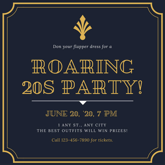 1920s Party Invitation Template Free Elegant Vintage Invitation Templates Canva