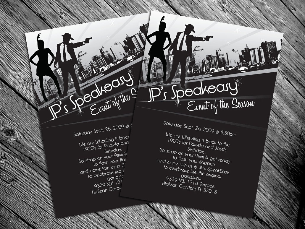 1920s Party Invitation Template Free Fresh 1920s Party Invites