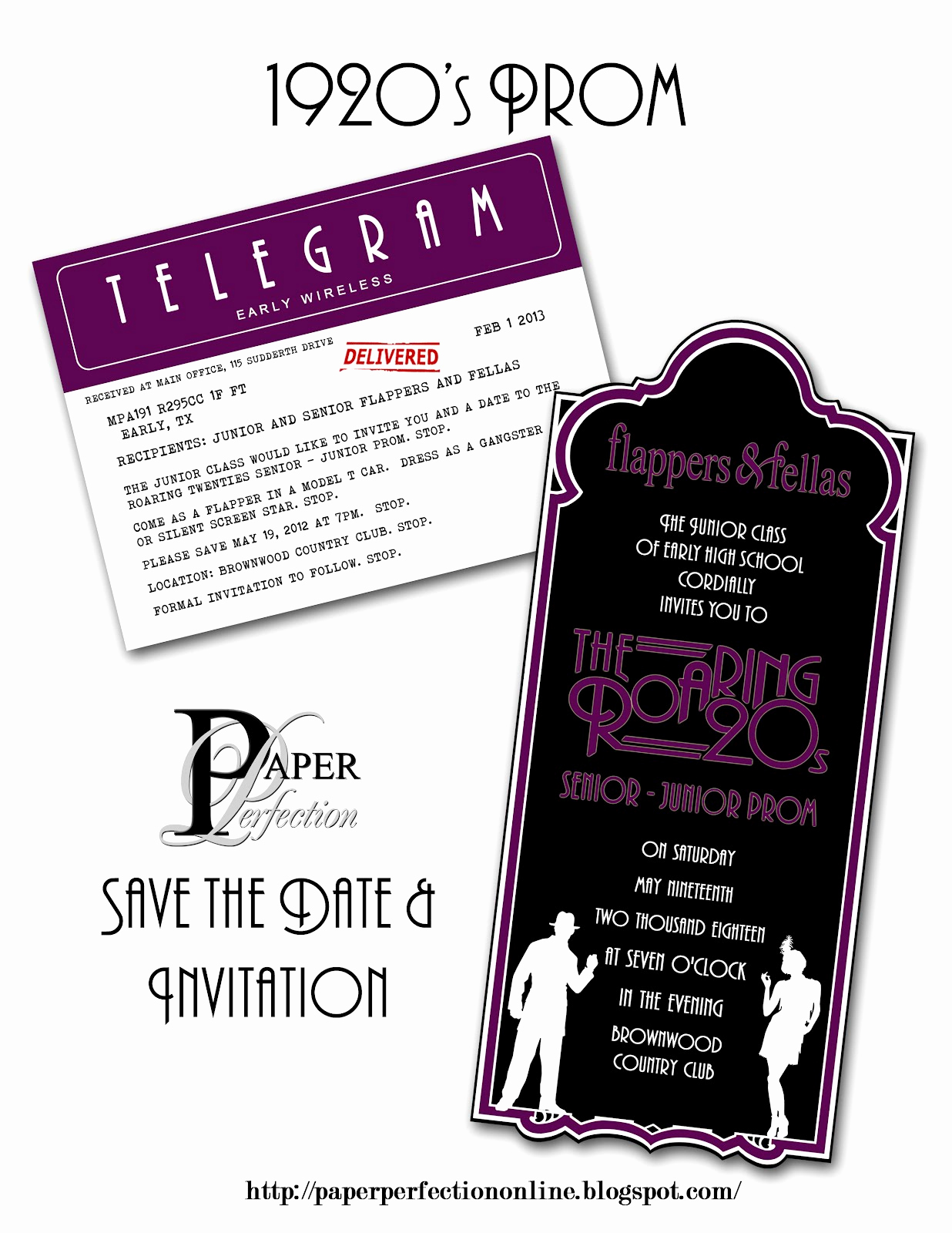 1920s Party Invitation Template Free Fresh Paper Perfection 1920 S Prom Invitation and Party Printables