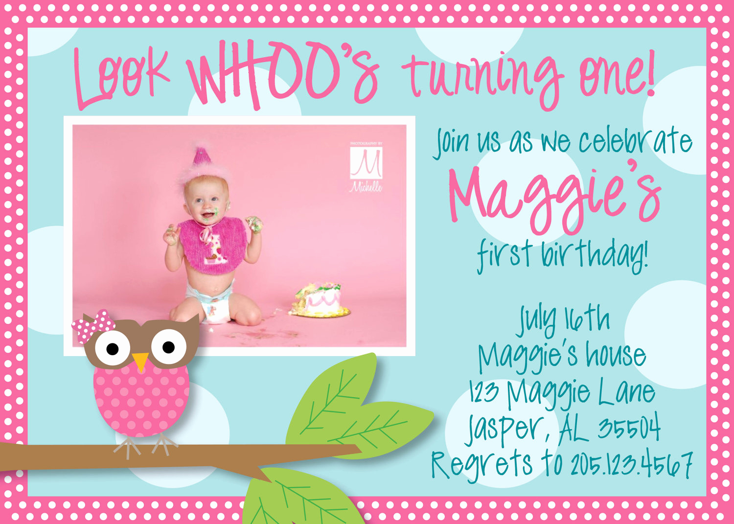 1st Birthday Invitation Ideas Beautiful Owl 1st Birthday Invitations Ideas – Bagvania Free